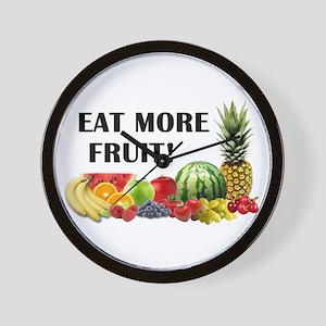 Eat More Fruit Wall Clock