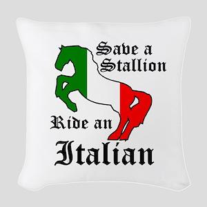 Stallion Woven Throw Pillow