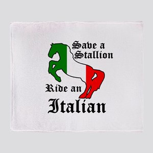 Stallion Throw Blanket
