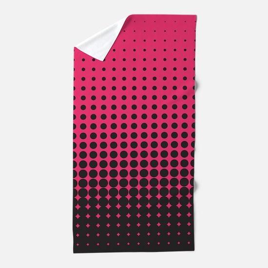 Halftone Dots Beach Towel