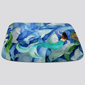 Dolphins And Mermaid Party Bathmat