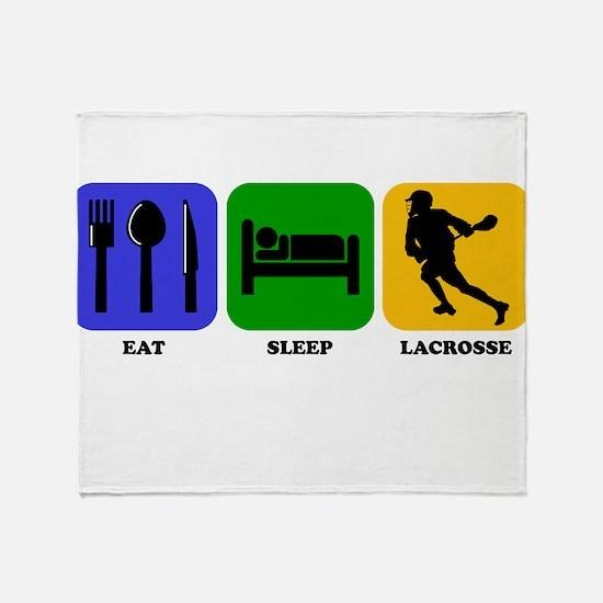 Eat Sleep Lacrosse Throw Blanket