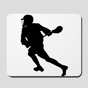 Lacrosse Player Silhouette Mousepad