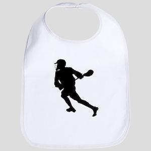 Lacrosse Player Silhouette Bib