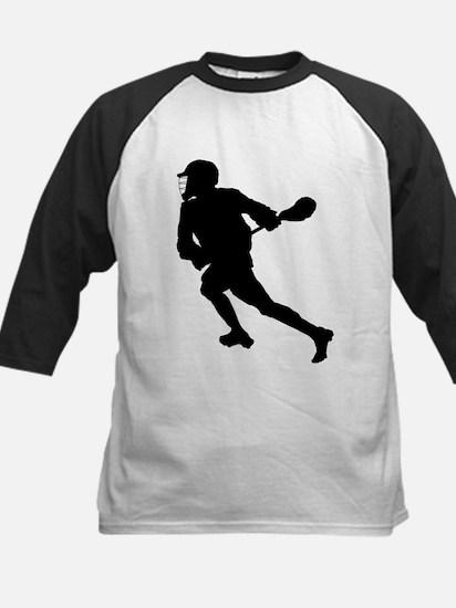 Lacrosse Player Silhouette Baseball Jersey