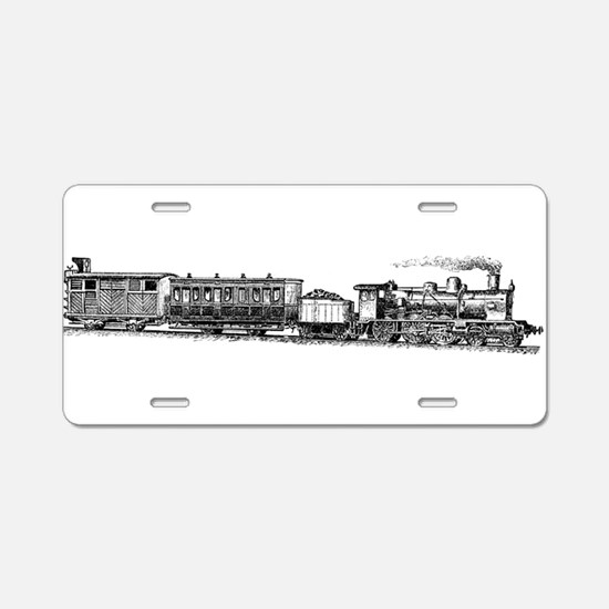 Steam Engine Aluminum License Plate