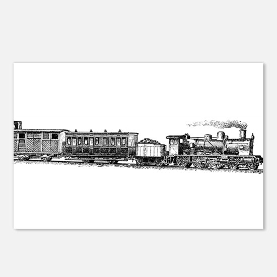 Steam Engine Postcards (Package of 8)