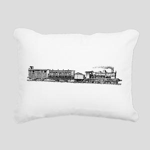 Steam Engine Rectangular Canvas Pillow