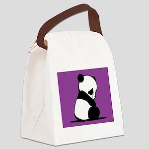 Sad Panda Canvas Lunch Bag