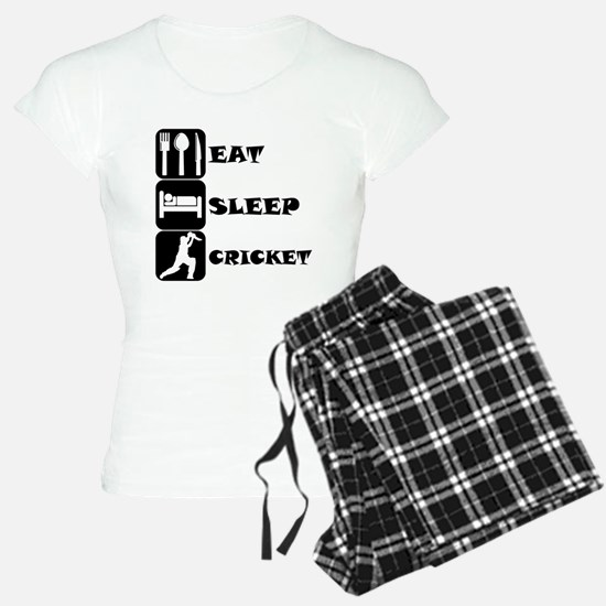 Eat Sleep Cricket pajamas