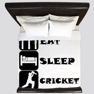 Eat Sleep Cricket King Duvet