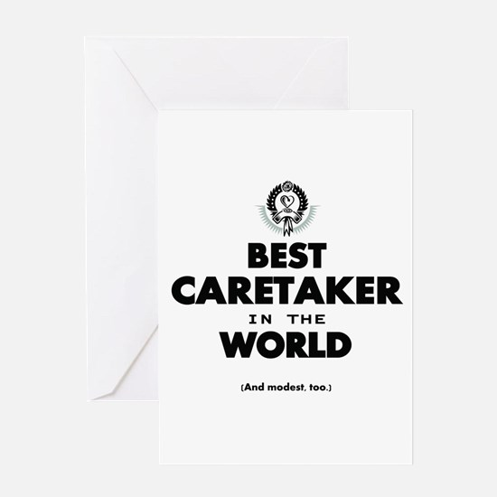 Best in the World Best Caretaker Greeting Cards
