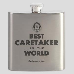 Best in the World Best Caretaker Flask