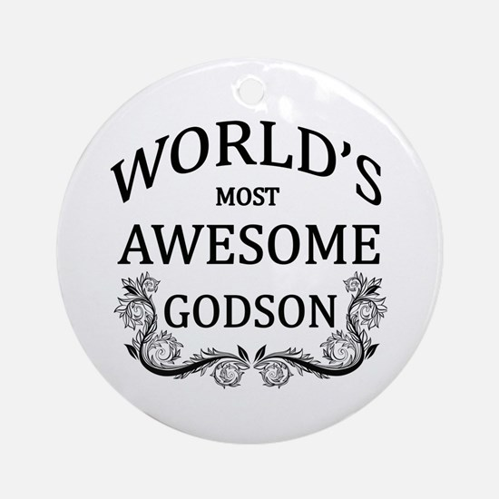 World's Most Awesome Godson Ornament (Round)