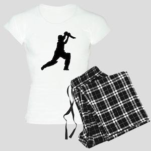 Cricket Player Silhouette pajamas