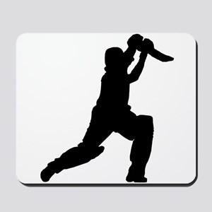 Cricket Player Silhouette Mousepad