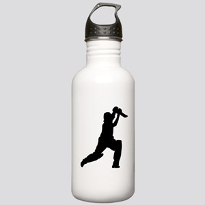 Cricket Player Silhouette Sports Water Bottle