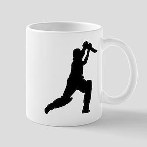 Cricket Player Silhouette Mugs