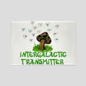 Alien Shrooms Rectangle Magnet