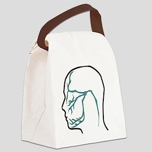 Trigeminal Neuralgia Nerve Distri Canvas Lunch Bag
