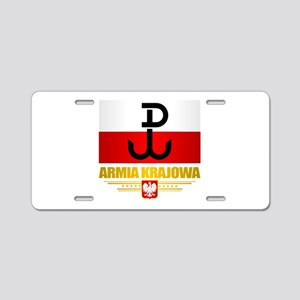Armia Krajowa (Home Army) Aluminum License Plate