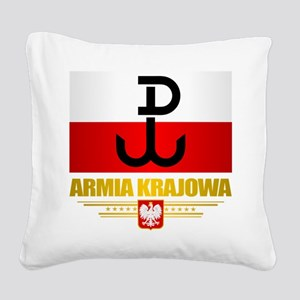 Armia Krajowa (Home Army) Square Canvas Pillow