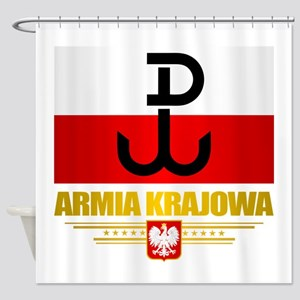 Armia Krajowa (Home Army) Shower Curtain