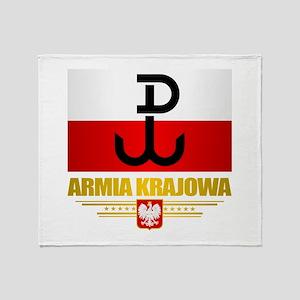 Armia Krajowa (Home Army) Throw Blanket