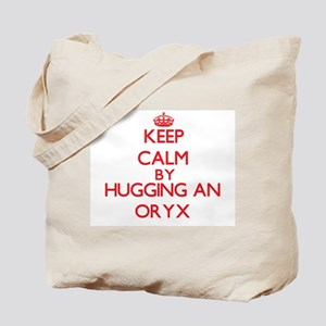 Keep calm by hugging an Oryx Tote Bag