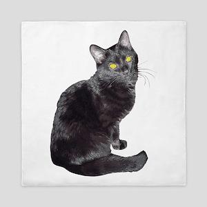 Black Cat Queen Duvet