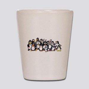 Penguins Shot Glass