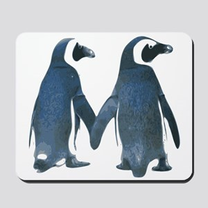 Penguins Holding Hands Mousepad