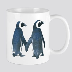 Penguins Holding Hands Mugs