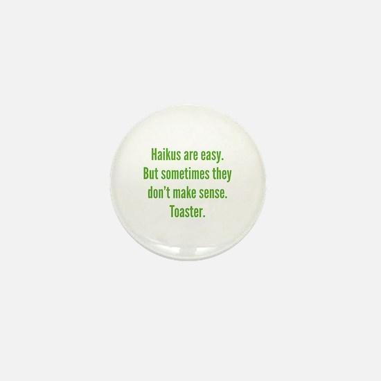 Haikus Are Easy Mini Button