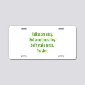 Haikus Are Easy Aluminum License Plate
