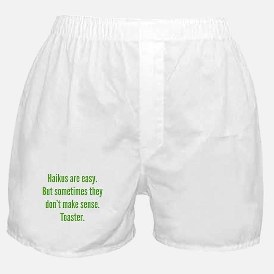 Haikus Are Easy Boxer Shorts