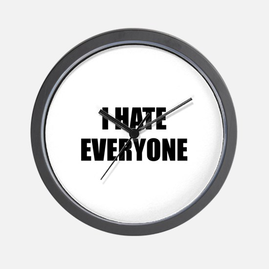 I Hate Everyone Wall Clock