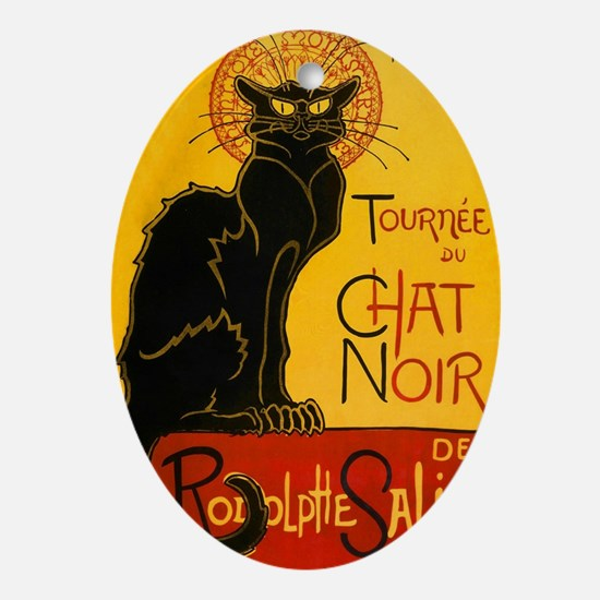 Le Chat Noir Oval Ornament