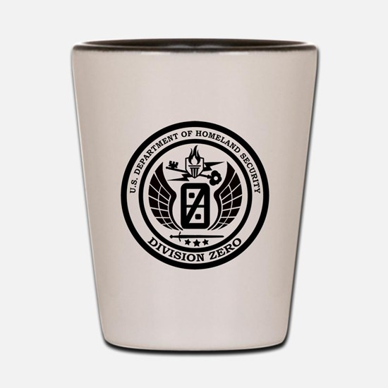 Division Zero Seal Black Shot Glass