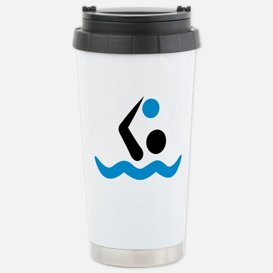 Water polo logo Stainless Steel Travel Mug