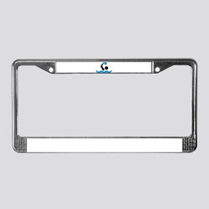 Water polo logo License Plate Frame