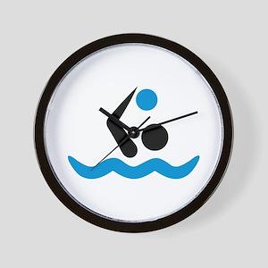 Water polo logo Wall Clock