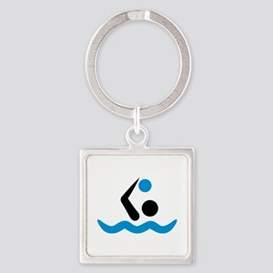 Water polo logo Square Keychain