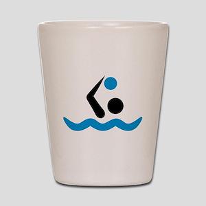 Water polo logo Shot Glass