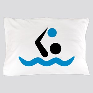 Water polo logo Pillow Case