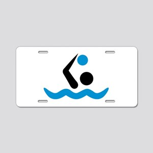 Water polo logo Aluminum License Plate