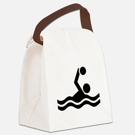 Water polo icon Canvas Lunch Bag
