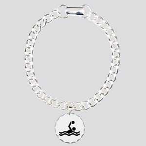 Water polo icon Charm Bracelet, One Charm