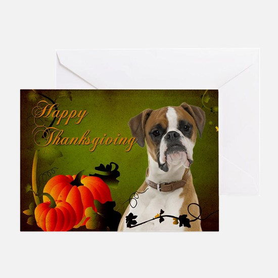 Boxer Thanksgiving Cards