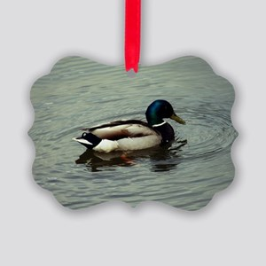 Duck at the Water Picture Ornament